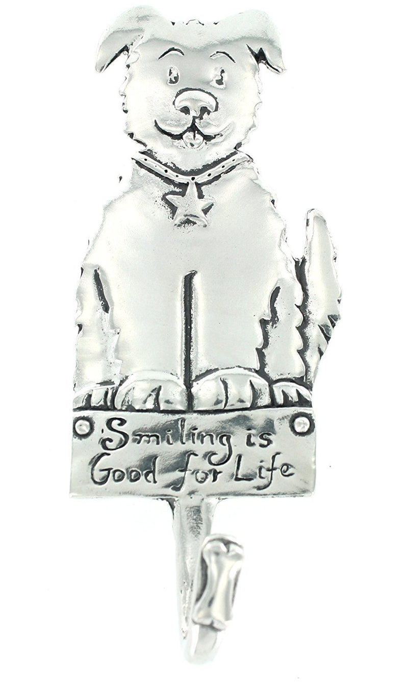 Basic Spirit Pewter Smiling Dog Hook, Made in Nova Scotia