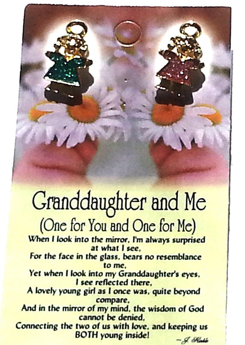 Thoughtful Little Angels Shareables Pin, Granddaughter & Me, Made in the USA