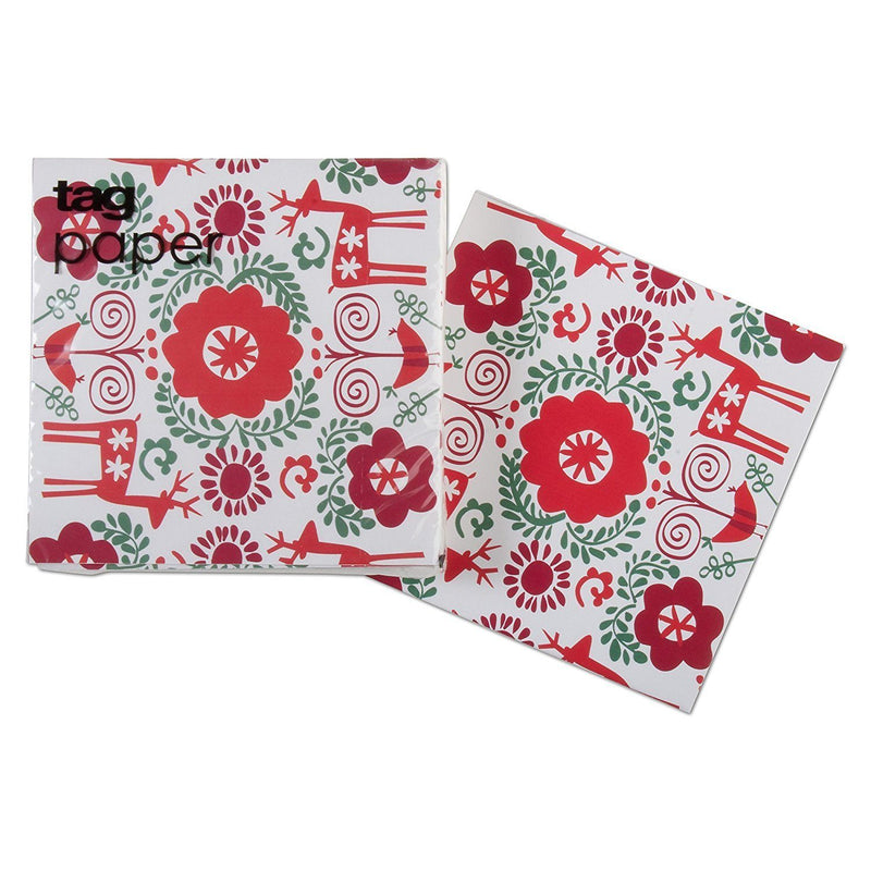 tag Nordic Holiday Paper Cocktail Napkin
