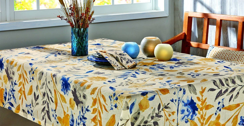 "Tag 205255 Nature Studies Tablecloth, 84"" Long by 60"" Wide, Multicolor"