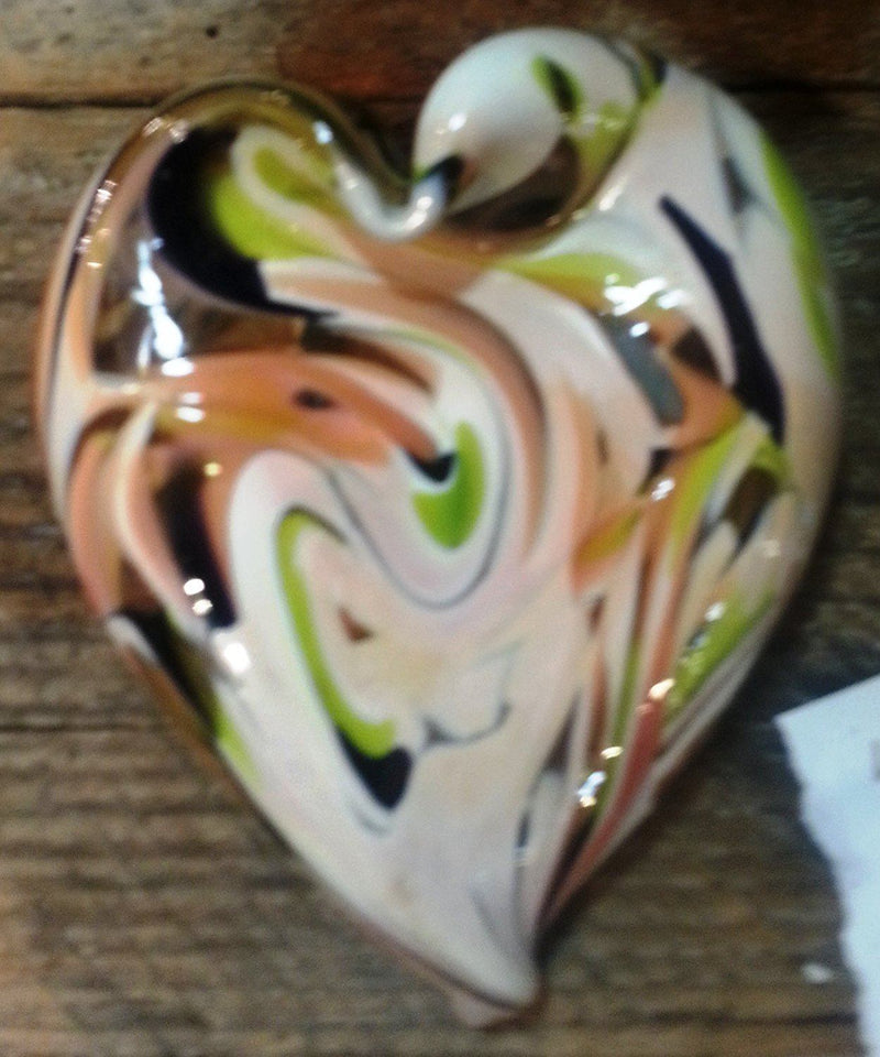 DBR Glassworks Hand Blown Heart, Choice of Style