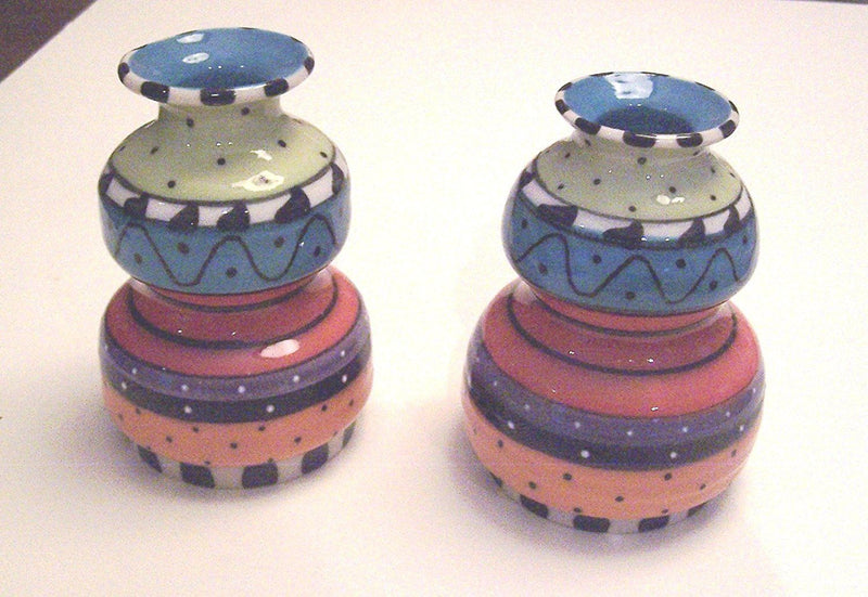 Handmade Pottery Candle Holders - set of 2