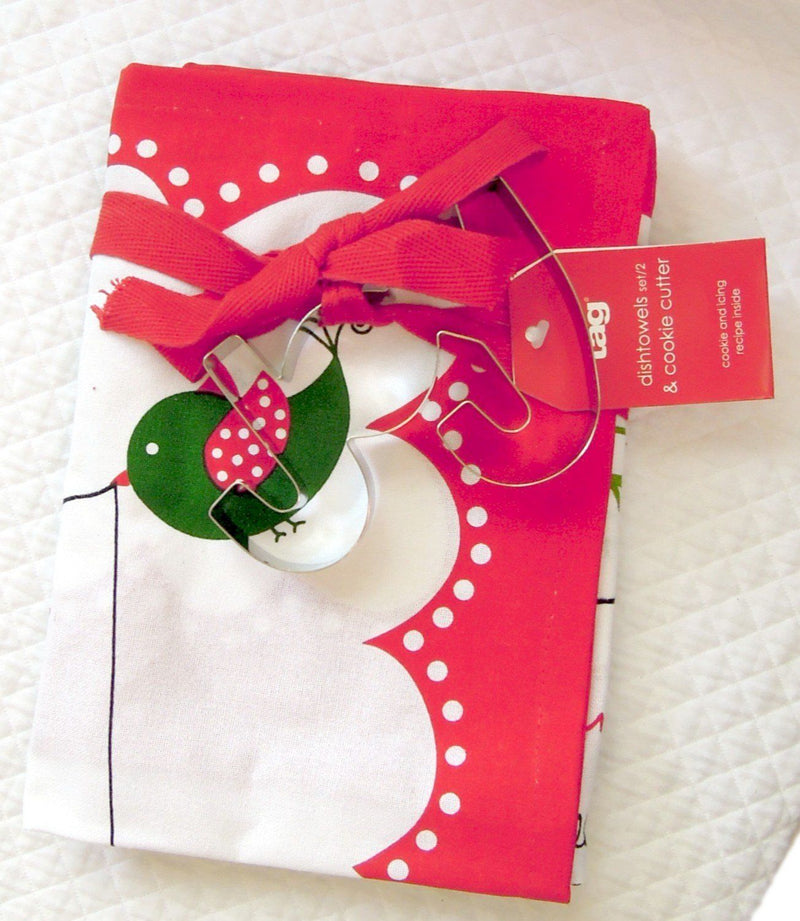 TAG Cookies for Santa Dishtowels (set of 2) with Cookie Cutter