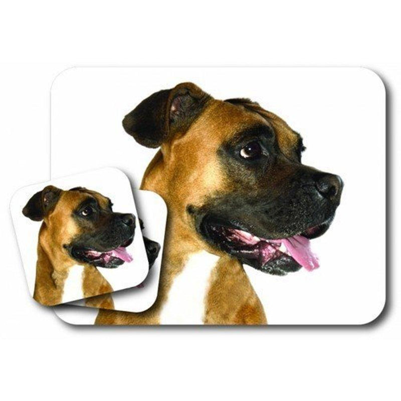 Little Gifts Boxer Mousepad & Coaster Set