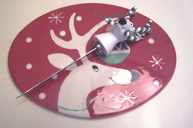 Cerified International Silly Reindeer Cheese Tray with Knife