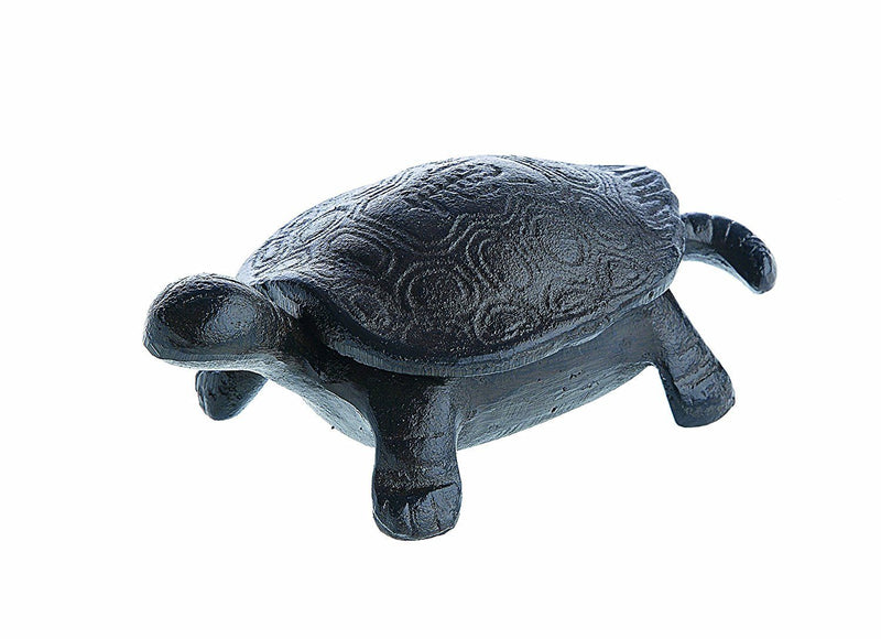 Creative Co-op Secret Garden Decorative Cast Iron Tortoise Box