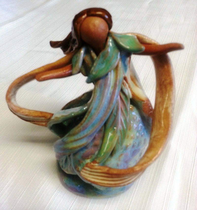 Cindy Pacileo Tan Dancer Ceramic Figurine, Handmade in the USA