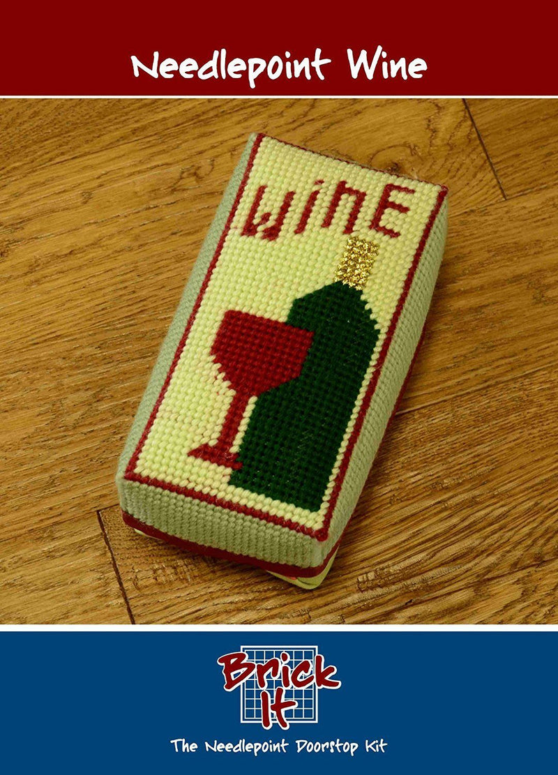 Brick It Needlepoint Door Stop Kit, Wine