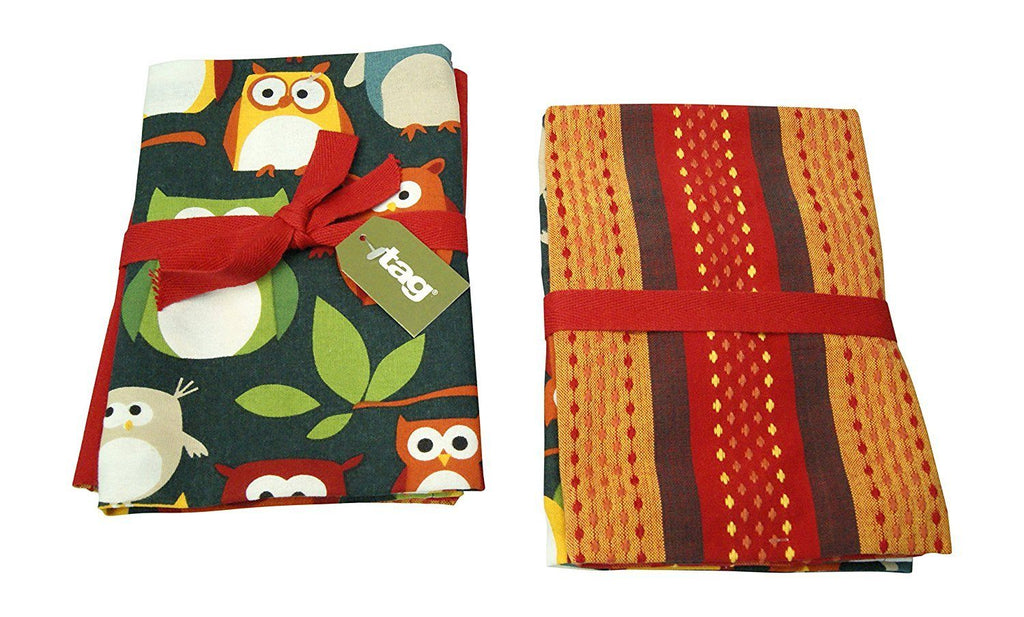 TAG Oliver Owl Dishtowel Set Of 2