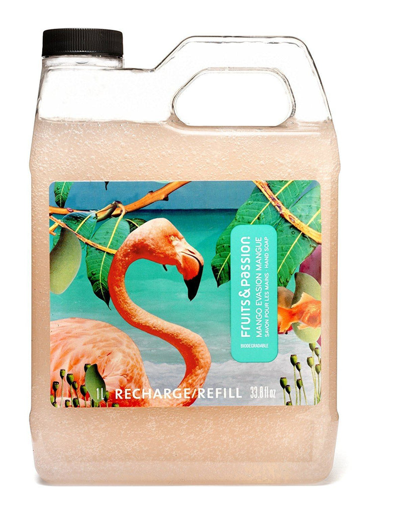 Fruits & Passion Imagine Hand Soap Refill, Mango Evasion, 33.8 ounce Bottle