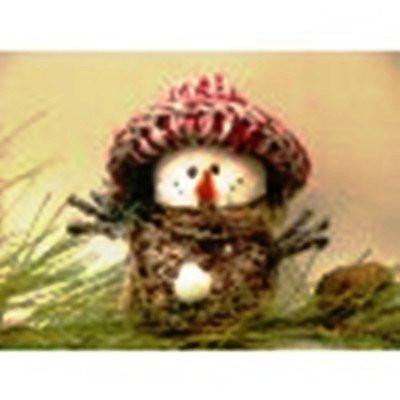 White/Natural Snowman Figurine by AA Floral
