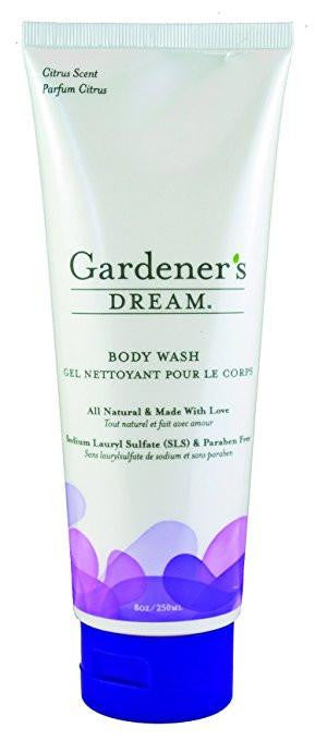 Aroma Crystal Therapy All Natural Gardeners Dream Body Wash, Citrus Scent, 8 OZ