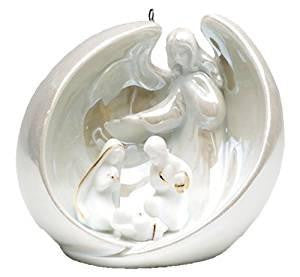 Appletree Design Angel with Holy Family Ornament - Gifts From A Distance