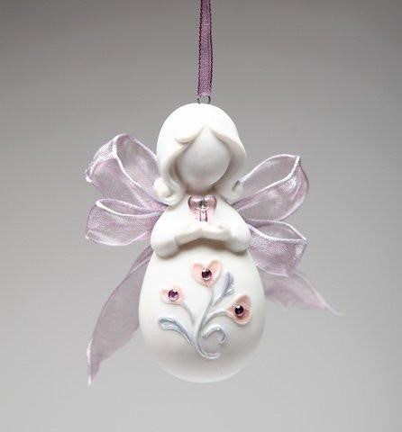 Appletree Design Inspirations from Above Ribbon Angel with Heart Ornament