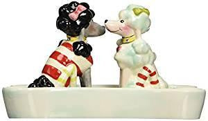 Appletree Design Ruby's Collection Poodles Salt and Pepper Set