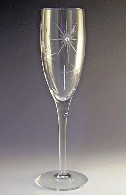 Asta Glass Twinkle Champagne Flute with Swarovski Crystals