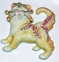 Amy Lacomb Whimsiclay Lily Cat Pin