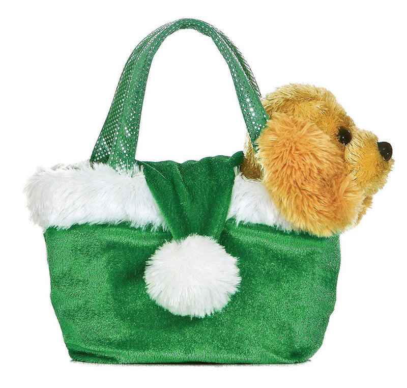Aurora Plush Holiday Dog Santa Green Hat Fancy Pal Pet Carrier
