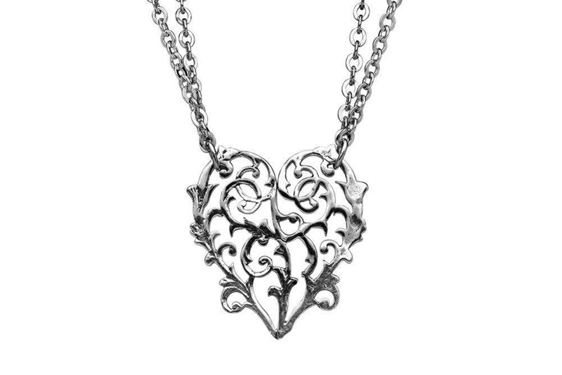 Alicia Heart Necklace By Silver Spoon Jewelry Made in the USA - Gifts From A Distance