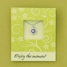 Basic Spirit Note Card with Pewter Necklace - Choice of Style (Cross)