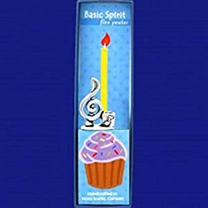 Basic Spirit Pewter Birthday Candle Holder, Treble Clef, Made in Nova Scotia