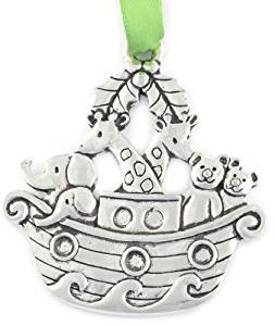 Basic Spirit Noah's Ark Pewter Ornament