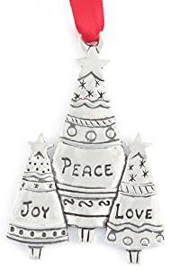 Basic Spirit Plant-A-Tree Three Trees Pewter Ornament
