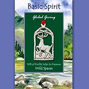 Basic Spirit Global Giving Wild Spaces Pewter Ornament, Deer, Made in Nova Scotia
