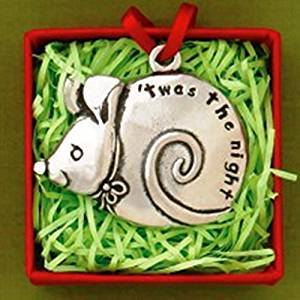 Basic Spirit Jolly Pewter Mouse 'Twas The Night Ornament, Made in Nova Scotia