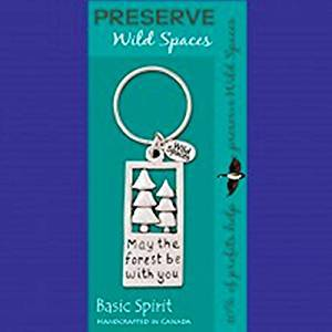 Basic Spirit Preserve Wild Spaces The Forest Pewter Keychain, Made in Nova Scotia