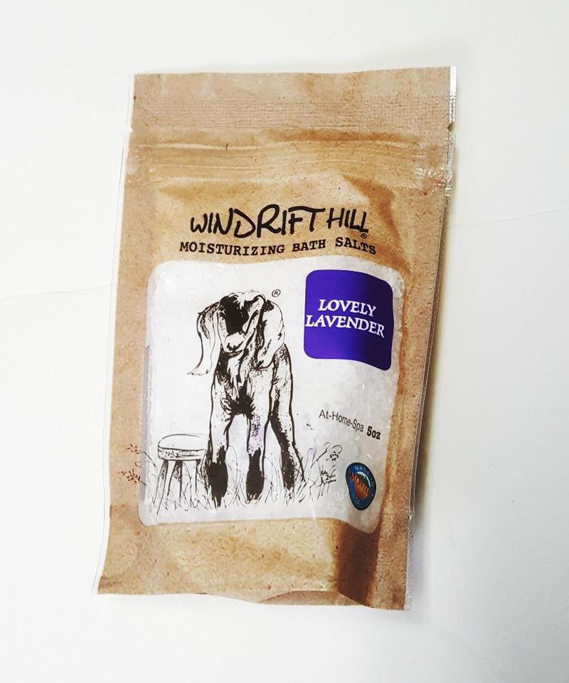 Windrift Hill Moisturizing Bath Salts, Choice of Scent