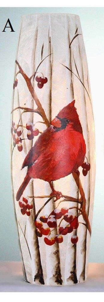 Stony Creek Birch & Cardinals Collection Lighted Glass Vase
