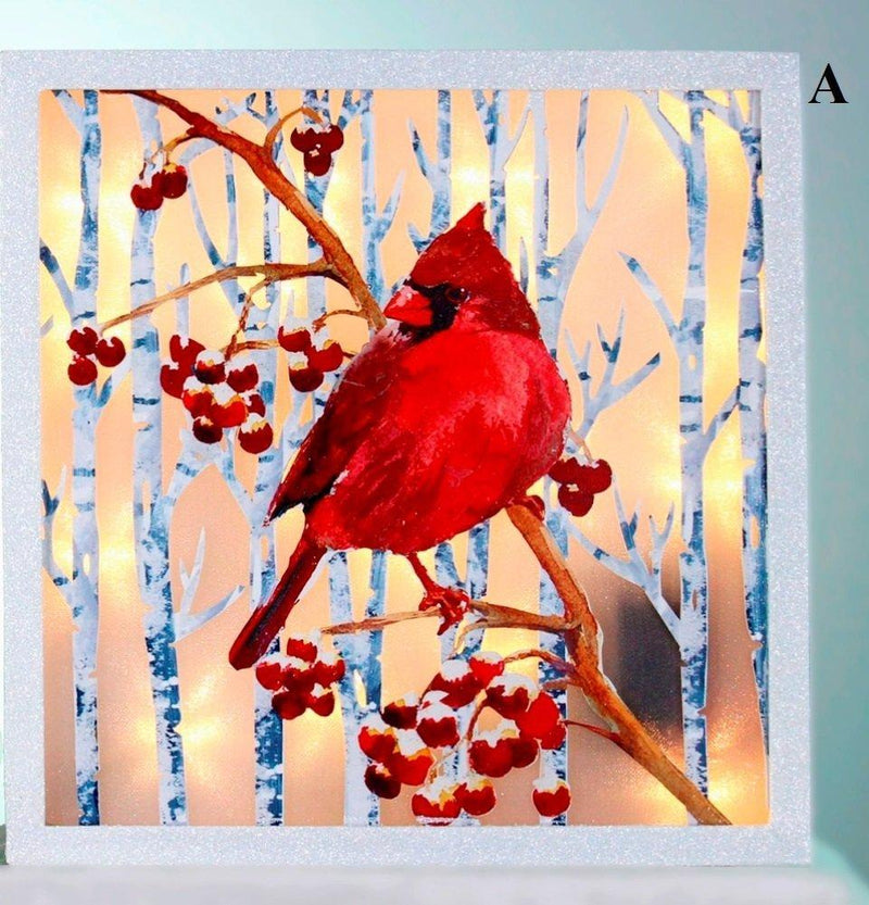 Stony Creek Birch & Cardinals Collection Laser Cut Wall Plaque, Choice of Style