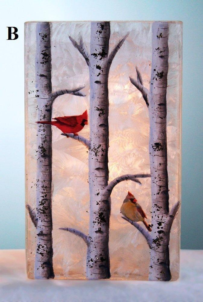 Stony Creek Birch & Friends Lighted Rectangle Glass Vase, Choice of Style