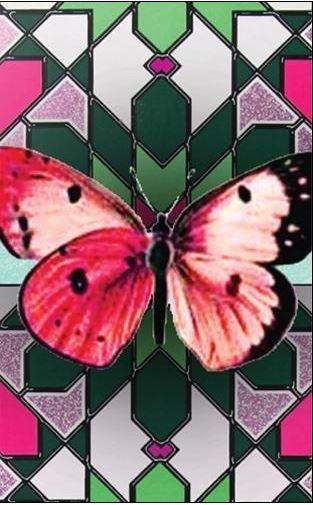 Lucy Lu Lacquered Little Slide Box with Mints, Butterfly, Made in the USA