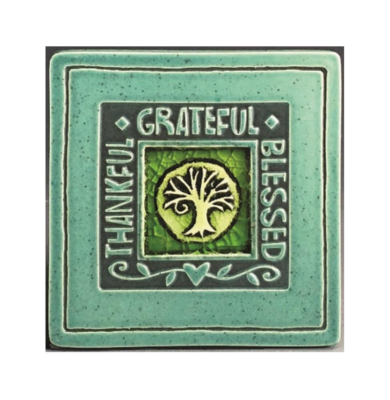 Macone Clay Thankful/Grateful/Blessed Coaster - Spooner Creek Designs