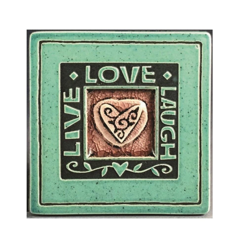 Macone Clay Live/Laugh/Love Coaster - Spooner Creek Designs