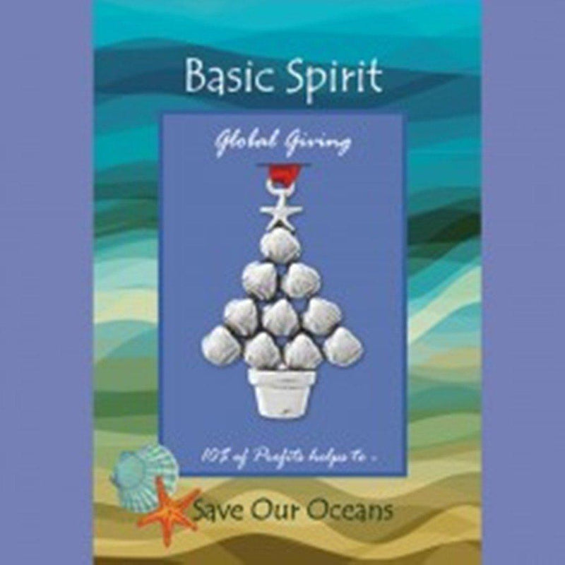 Basic Spirit Shell Tree Global Giving Pewter Ornament, Made in Nova Scotia