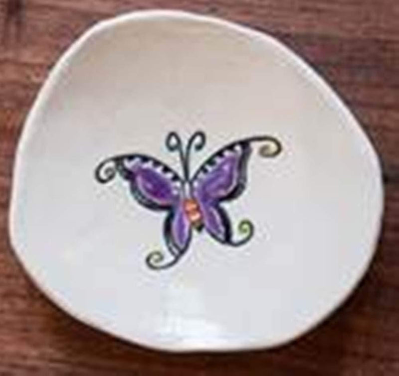 Cheryl Stevens Studio Pottery Trinket Dish, Handmade in the USA (Butterfly)