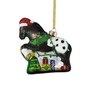 Painted Ponies Appy Holidays Glass Ornament from Enesco