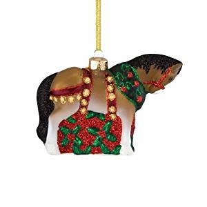 Trail of Painted Ponies from Enesco Christmas Clydesdale Glass Ornament