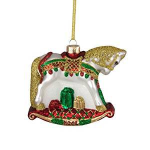 Trail of Painted Ponies from Enesco Noel Glass Ornament