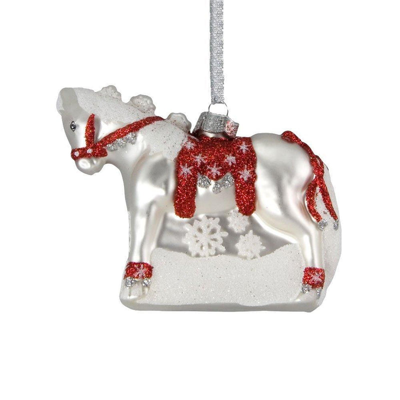 Trail of Painted Ponies Dashing Through The Snow Glass Ornament from Enesco