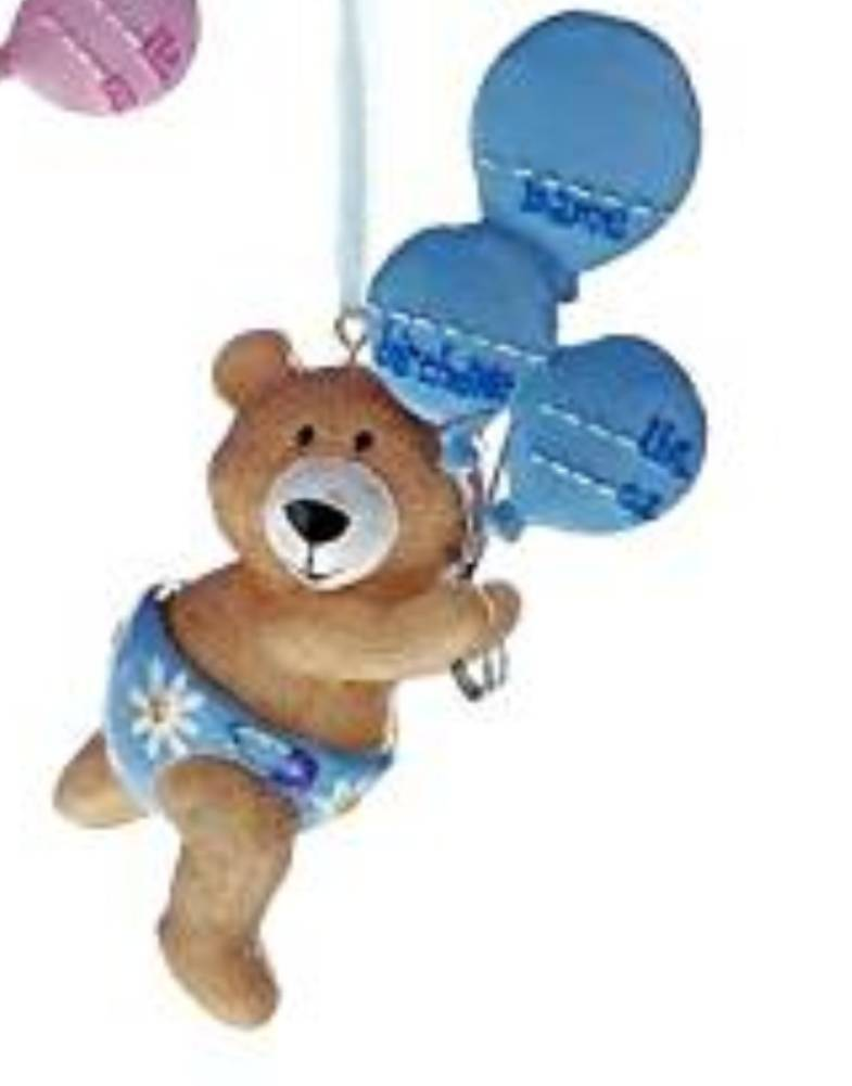 Baby Bear Ornament - Blue