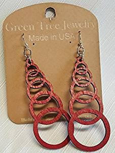 Ascending Circle Earrings by Green Tree Jewelry, Made in the USA