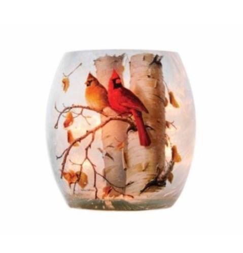 Stony Creek Hautman Fall Cardinal Lighted Glass Votive