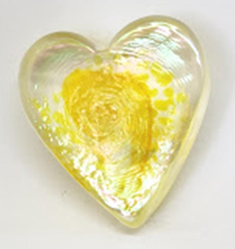 Arte Vargas Handblown Glass Heart, Choice of Color