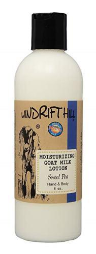 Windrift Hill Moisturizing Goat's Milk Lotion, 8 oz, Sweet Pea