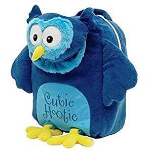 Laid Back Cutie Hootie Owl Snuggle Backpack, Blue, Medium