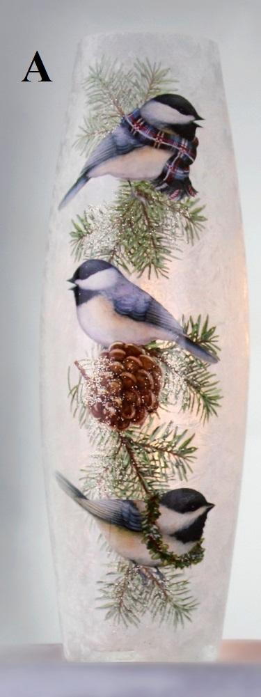 Stony Creek Bundled Bird Collection Lighted Glass Vase, Choice of Style